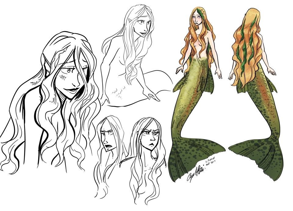 Lysithea - Lysi - Mermaids of Eriana Kwai - Ice Massacre graphic novel.jpg